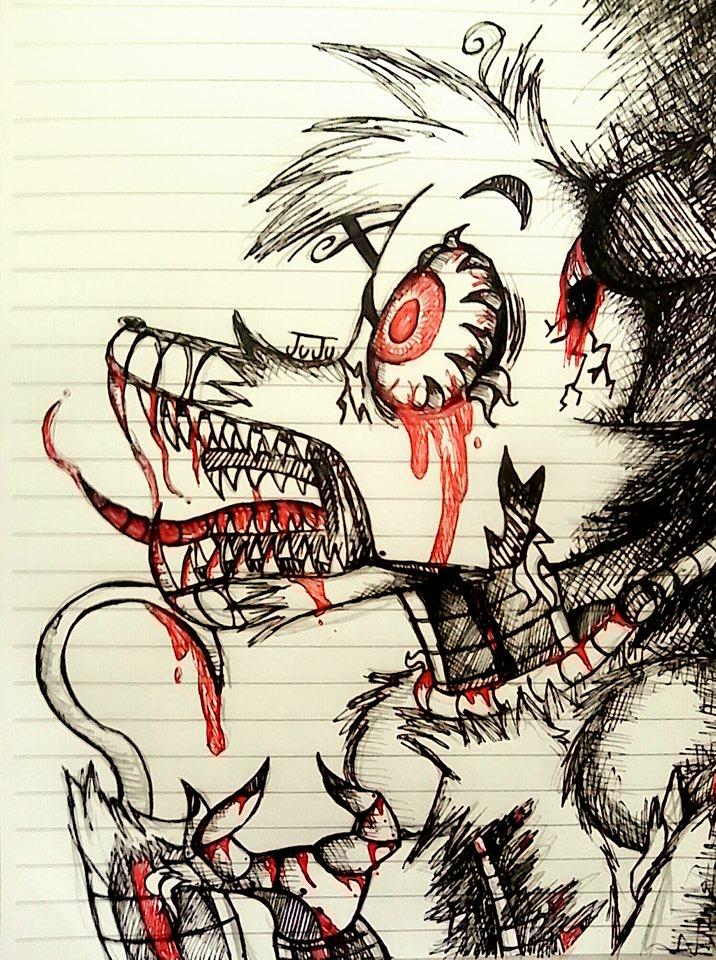 Nightmare Foxy Drawing At Getdrawings