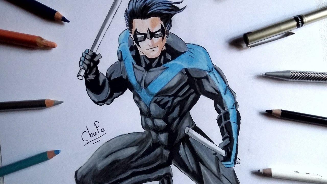 1280x720 Dibujando A Ala Nocturna Drawing Nightwing