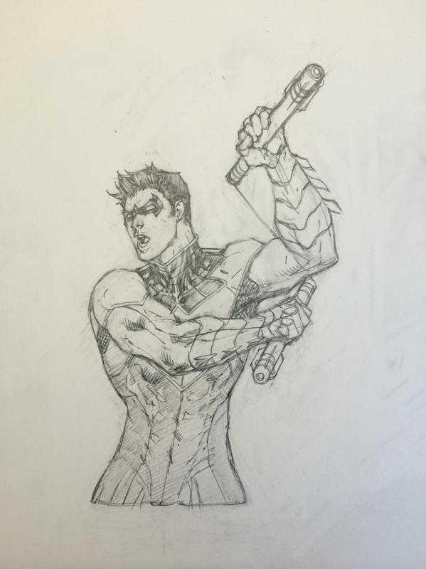 599x800 Jim Lee On Twitter And Here's My Pencil Layout For The Nightwing