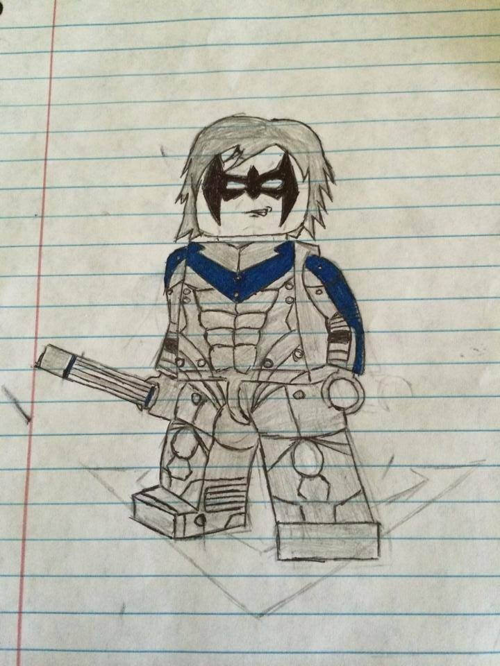 720x960 Lego Nightwing Drawing Something A Drew Awhile Back