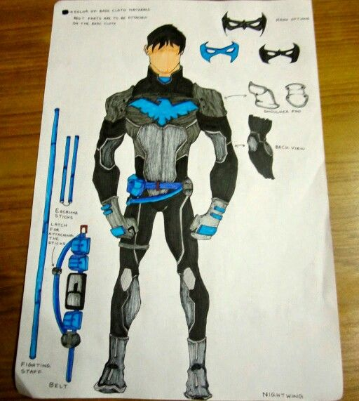 512x571 Young Justice Nightwing Drawing Nightwingrichard Grayson