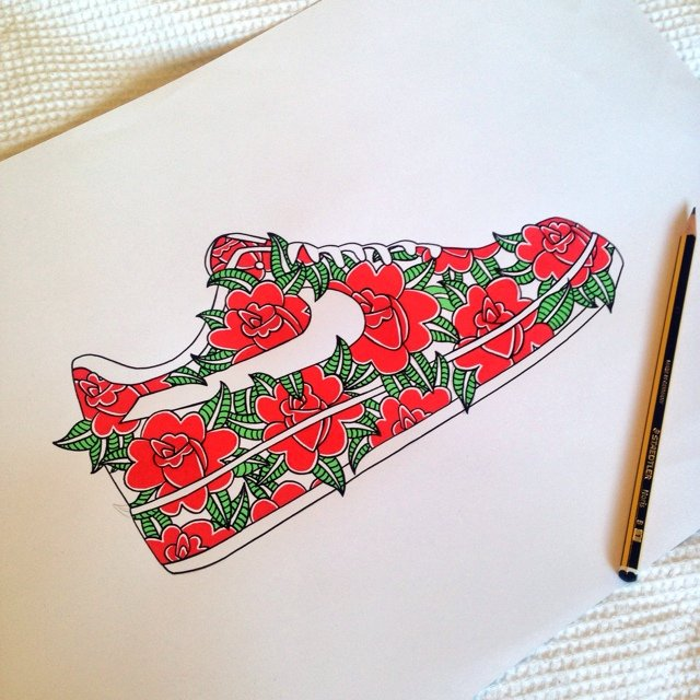640x640 Nike Air Force 1 Drawing
