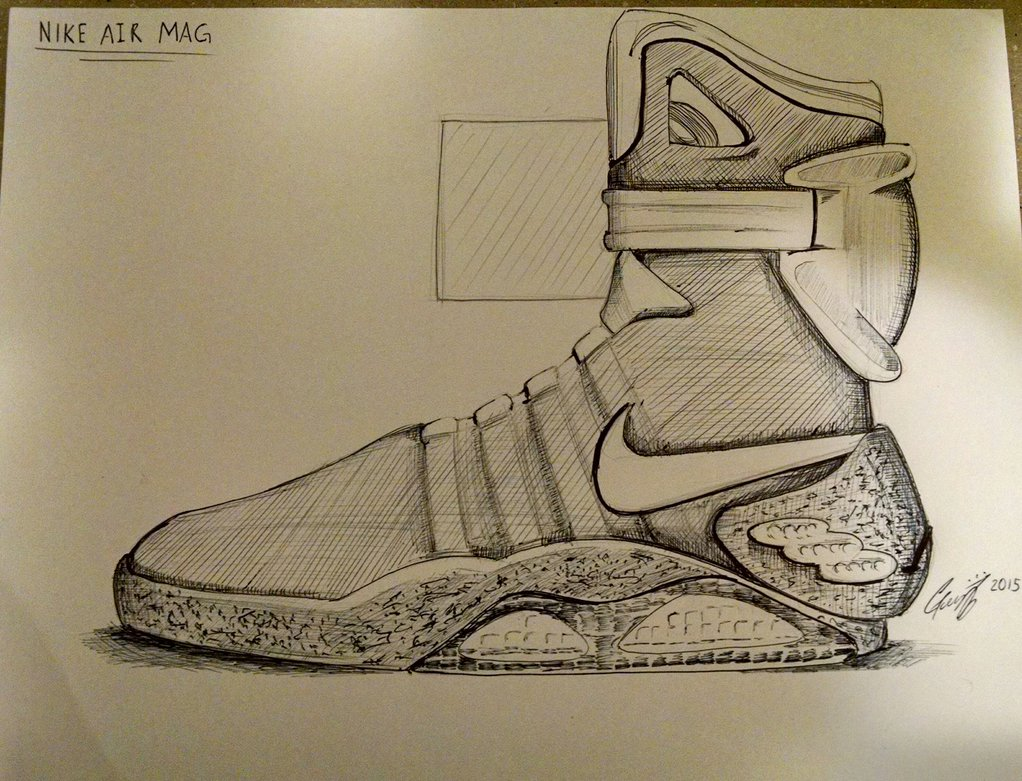 1022x781 Back To The Future Nike Air Mag Shoes By Chatoanimations