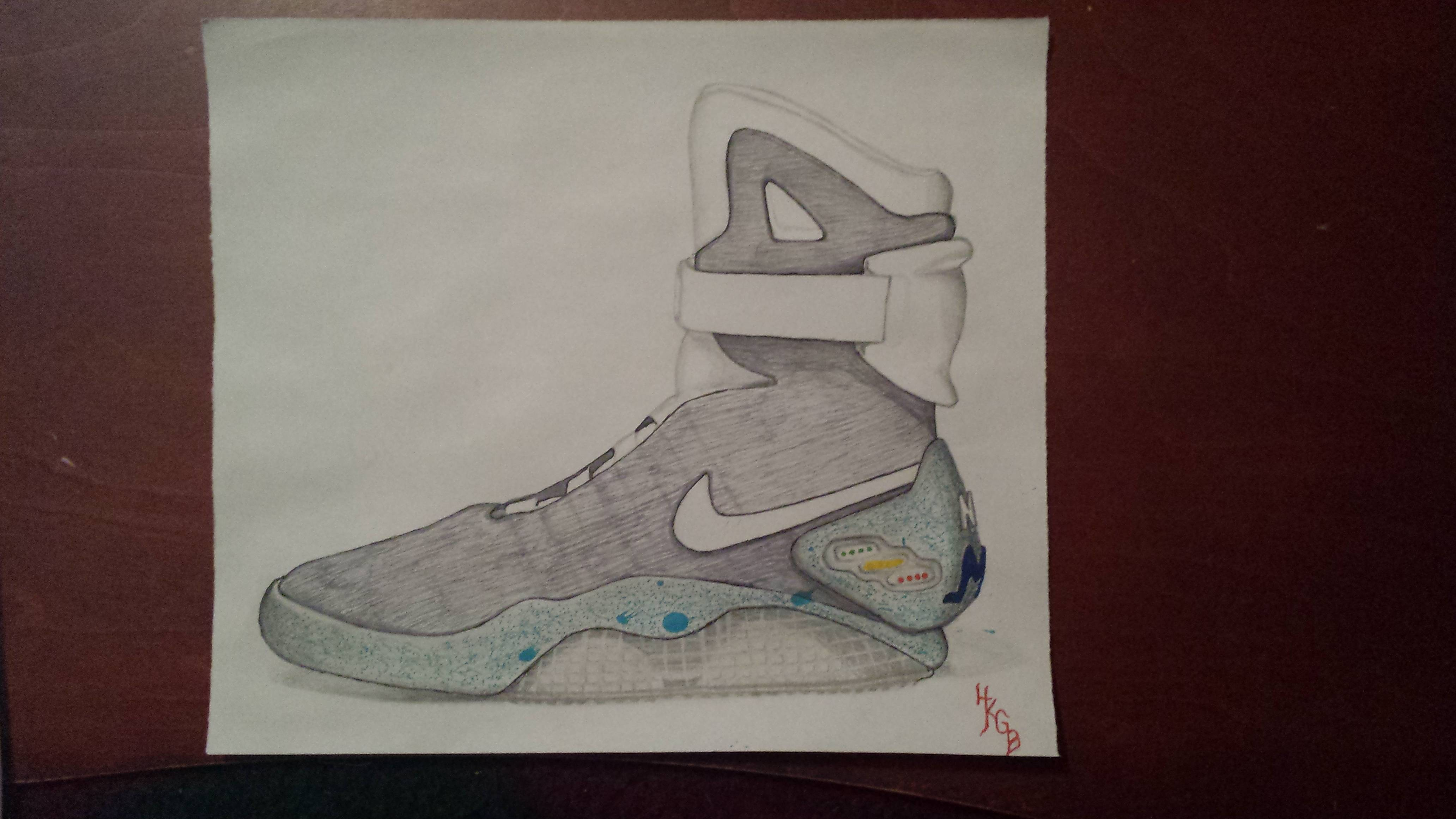 4128x2322 Drawing] The Nike Air Mag Sneakers