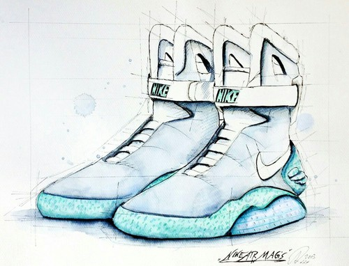 500x382 Nike Air Mag Drawing Uploaded By