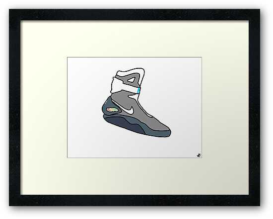 550x442 Nike Air Mag Poster Drawing. Framed Prints By Harrer Redbubble