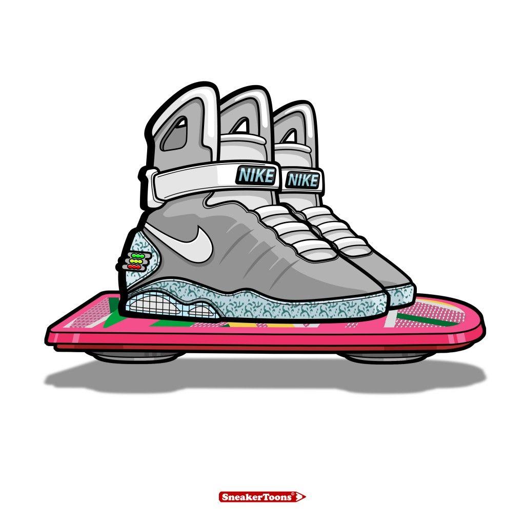 1024x1024 Nike Air Mag By Steven Piantoni Sneakertoons Amp Matchkicks (Uk