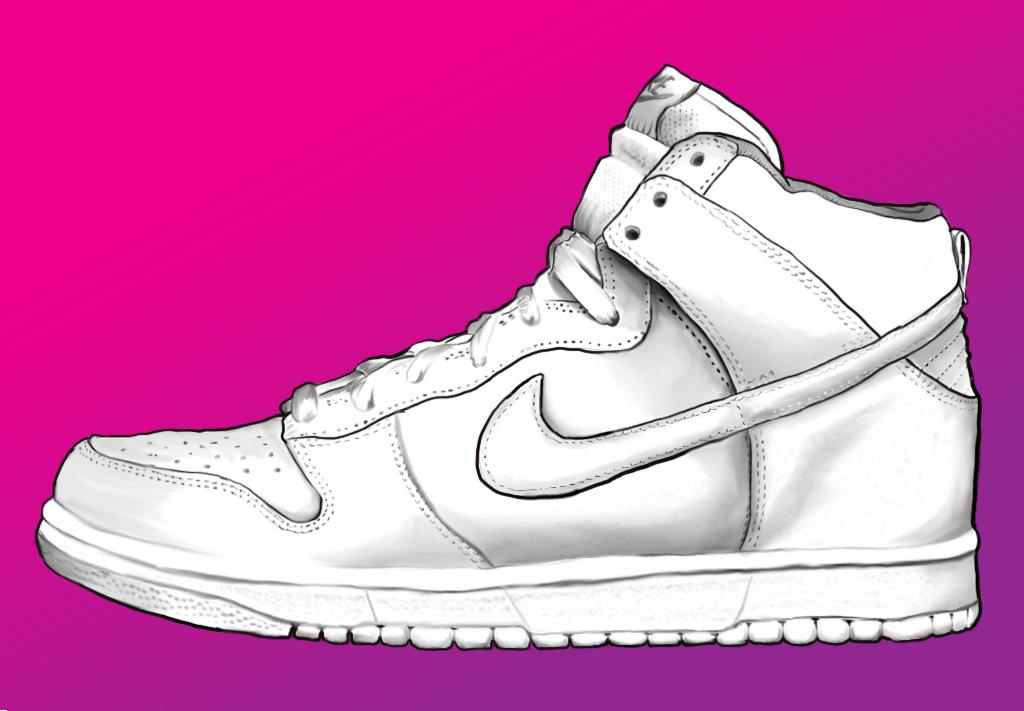 1024x711 Nike Shoe By Fanngorn