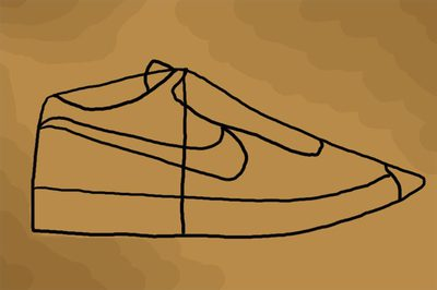 400x266 How To Draw Nike Shoes (With Pictures) Ehow