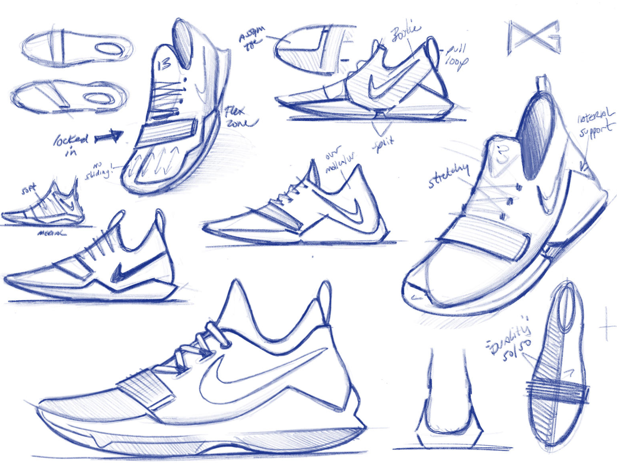 nike sneaker drawing at getdrawingscom free for