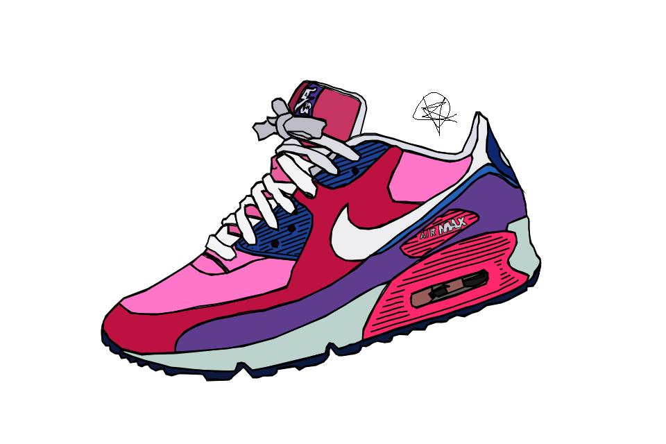 960x640 Nike Air Max Drawing Finished By Iamkezzyy