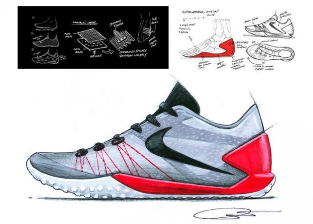 640x457 Nike Hyperchase James Harden Shoe Tony Hardman Sketches Designer