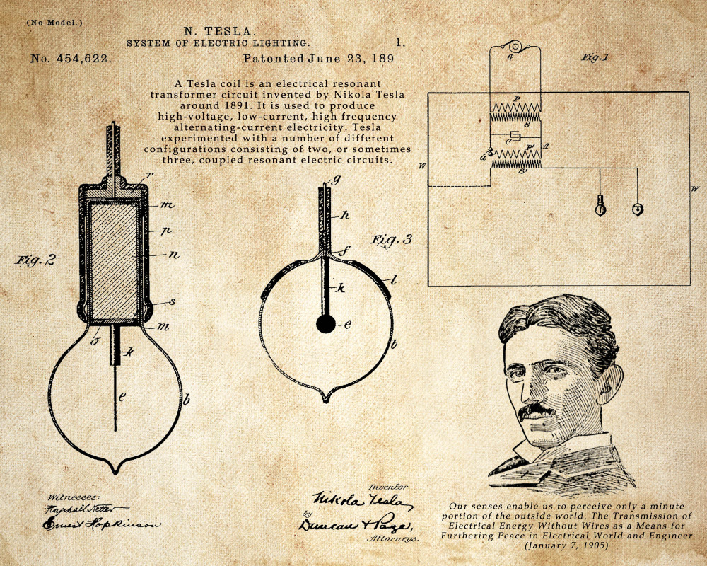 Old Tesla Diagram Residential Electrical Symbols Wiring Nikola Drawing At Getdrawings Com Free For Personal Use Rh Coil Schematic Motor