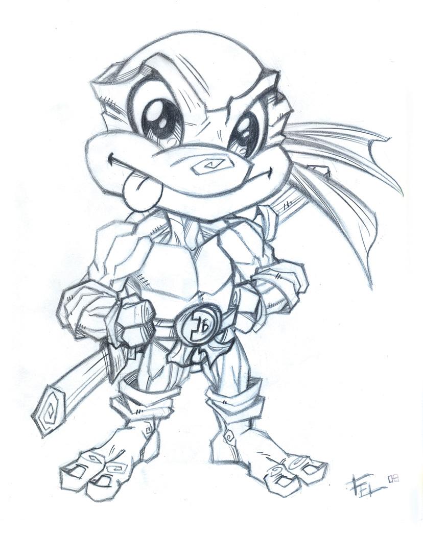 Toddler Mutant Ninja Turtles by artistjerrybennett on ... |Baby Ninja Turtles Drawings
