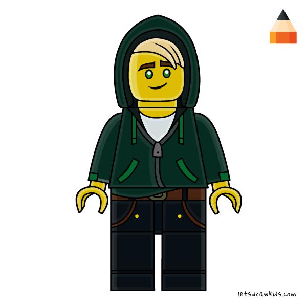 600x600 How To Draw Lego Lloyd From Ninjago