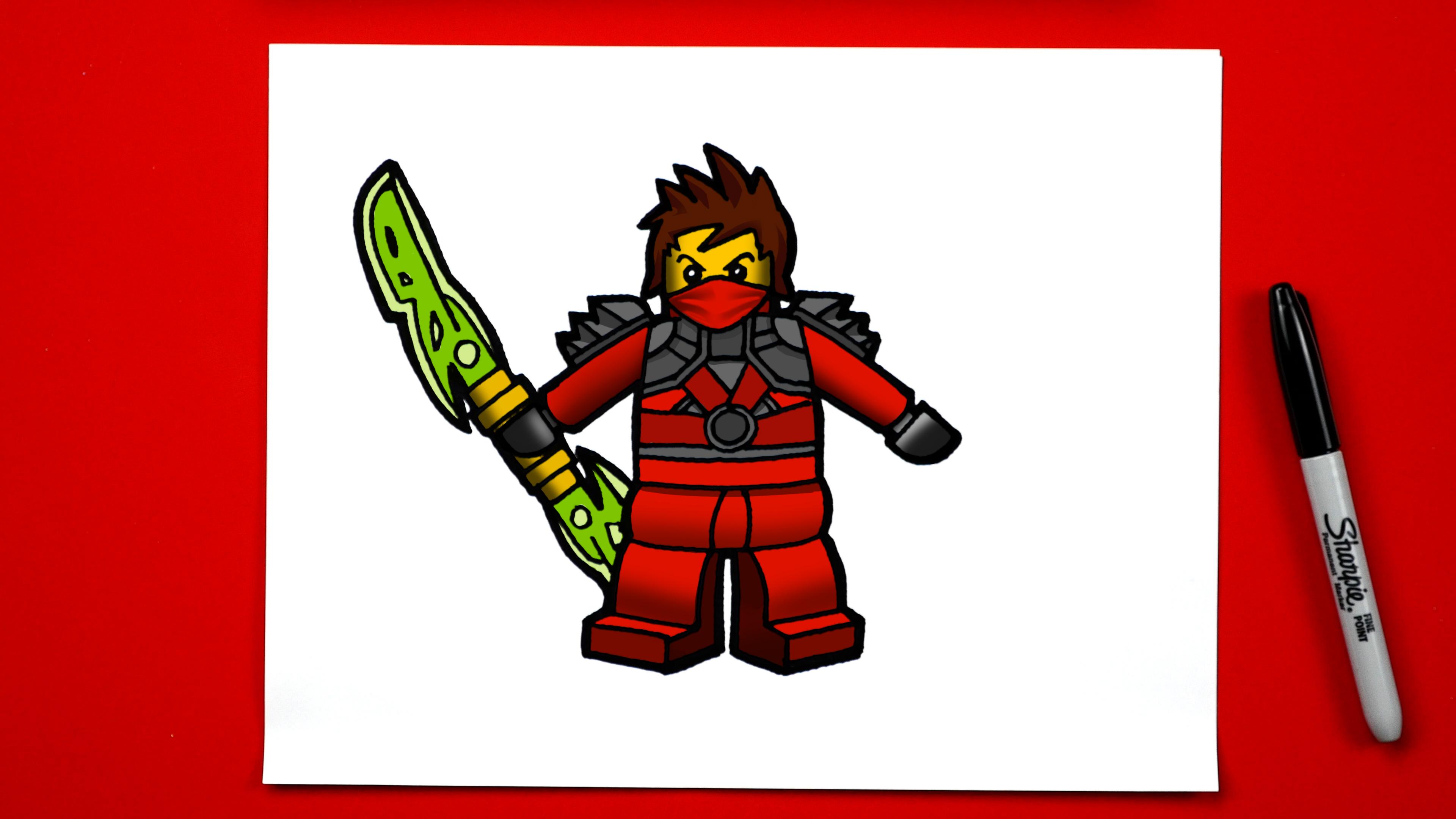 3840x2160 How To Draw Kai From Ninjago