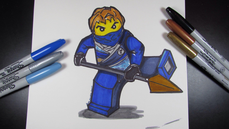 Beau Dessin à Imprimer Lego Ninjago Jay