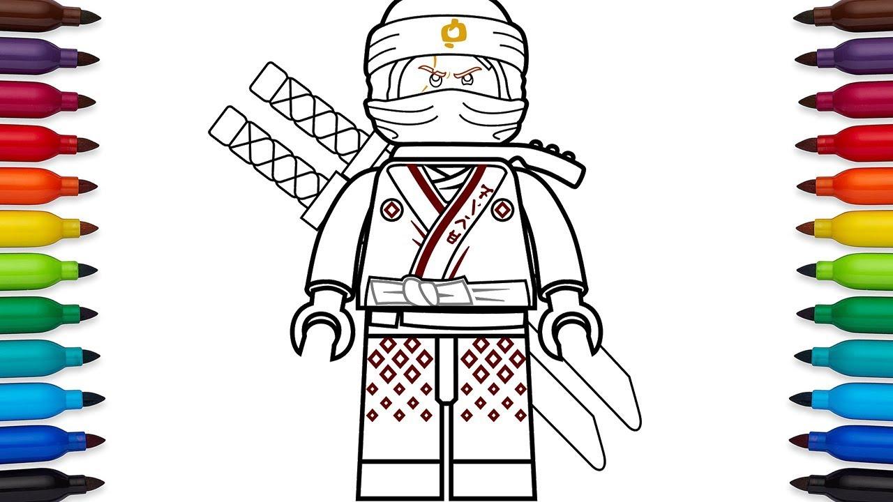 Lujoso Lego Ninjago Para Colorear Kai Zx Patrón - Dibujos Para ...