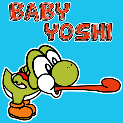 400x400 How To Draw Nintendo's Baby Yoshi With Easy Step By Step Drawing