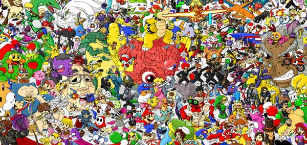 600x284 Nerd News Today Nintendo Tribute Drawing Features Over 300 Video