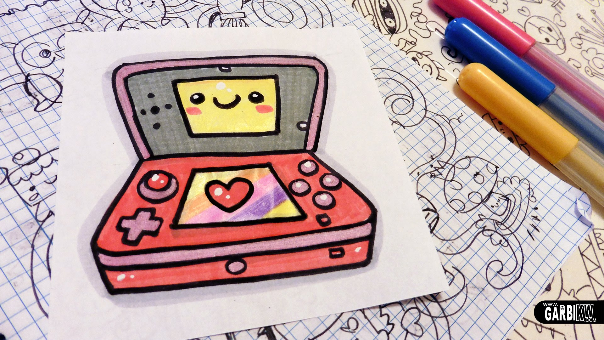 1920x1080 How To Draw A Cute Nintendo 3ds