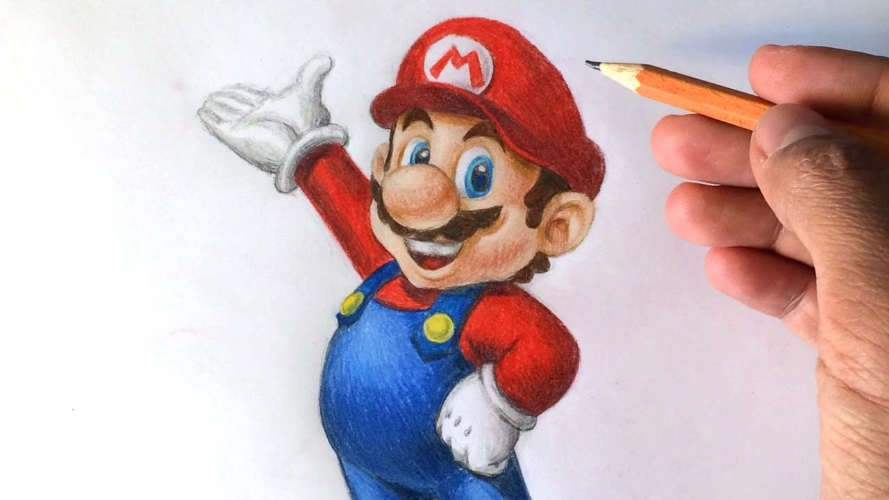 1280x720 How To Draw Super Mario 3d [Nintendo] Drawing Tutorial