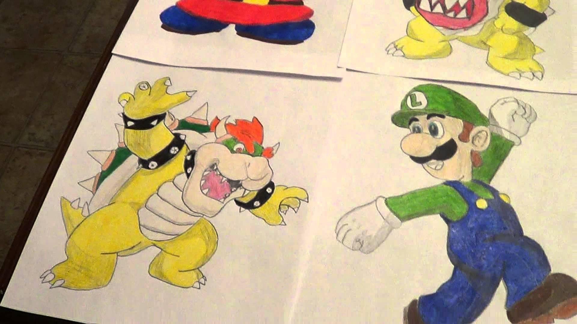 1920x1080 Nintendo Drawings Super Mario Series