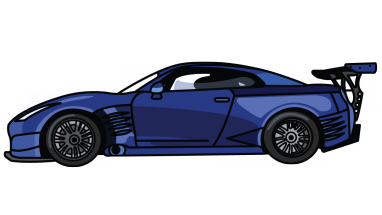 382x215 How To Draw Nissan Gtr, A Car, Easy Step By Step Drawing Tutorial