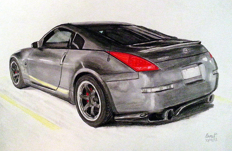 800x519 Nissan 350z Drawing By Pavee12120