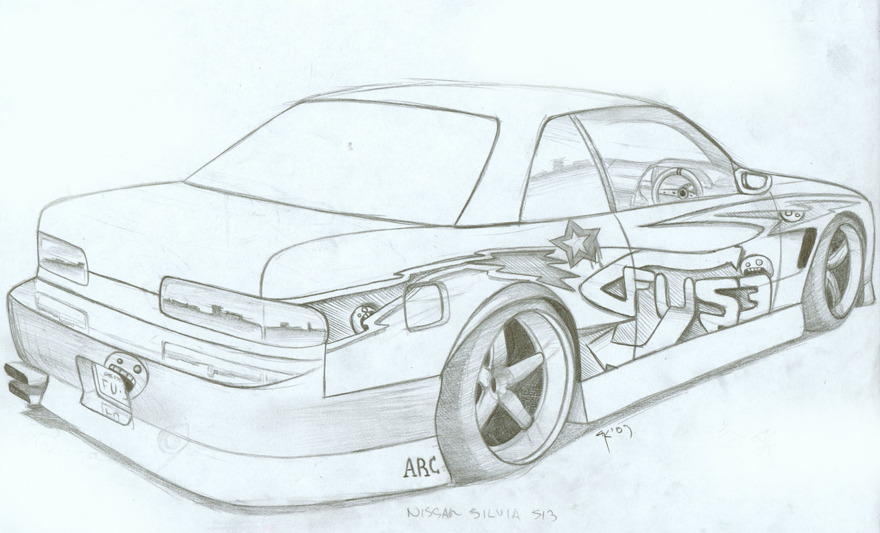 1280x776 Nissan Silvia S13 By Fuseest On Coloring Pages
