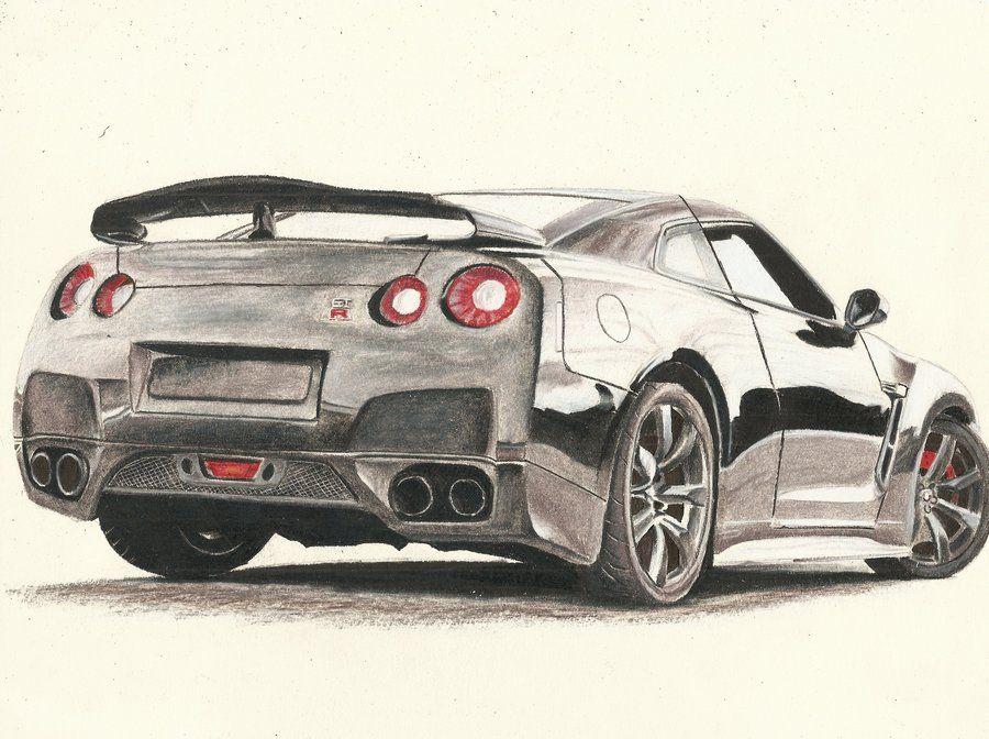 900x672 Draw Nissan Gtr How To Draw Nissan Skyline Step By Step Image