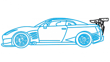 Nissan Gtr Drawing at GetDrawings.com | Free for personal ...