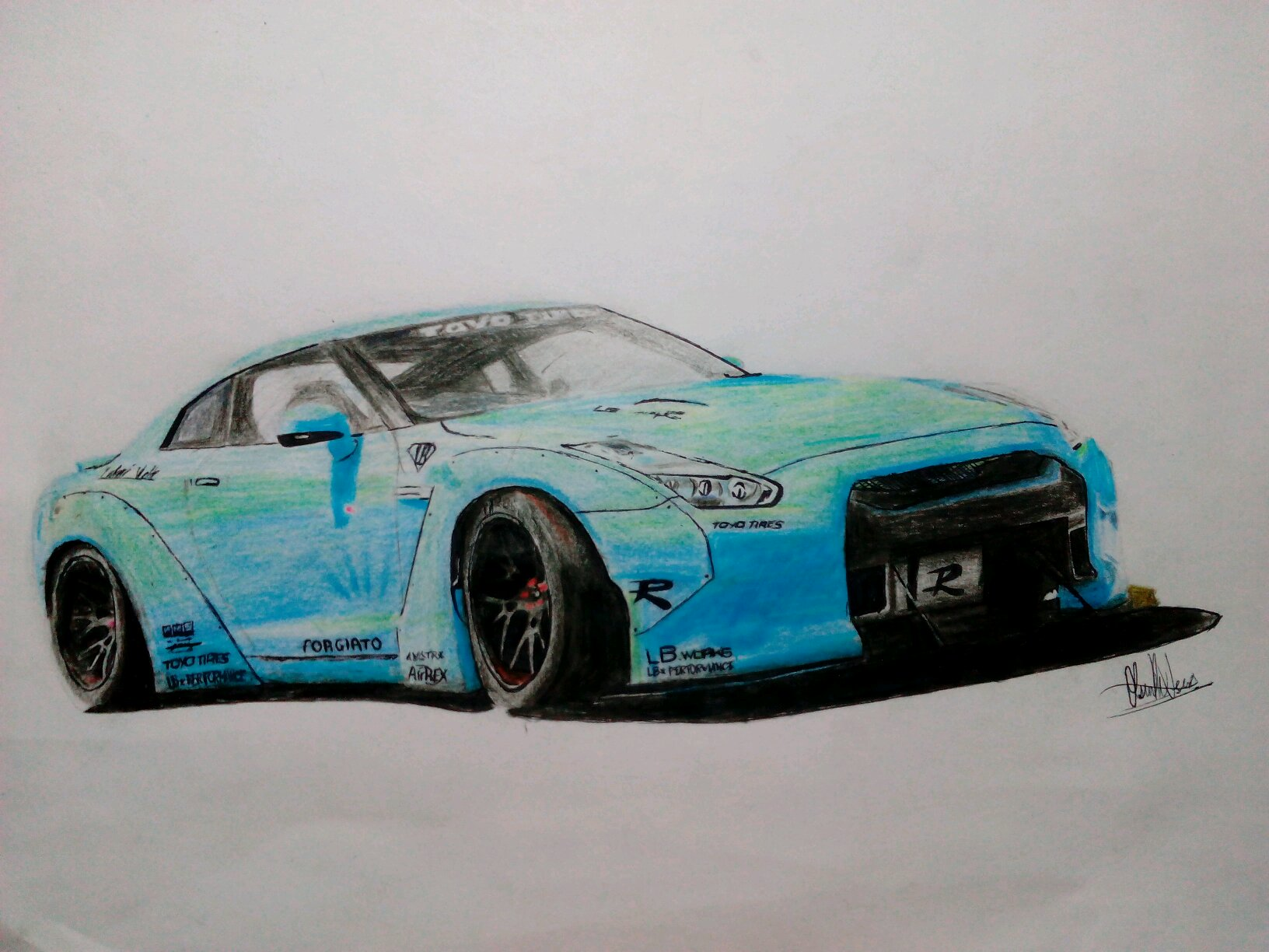 Nissan Gtr Drawing at GetDrawings.com | Free for personal use Nissan ...