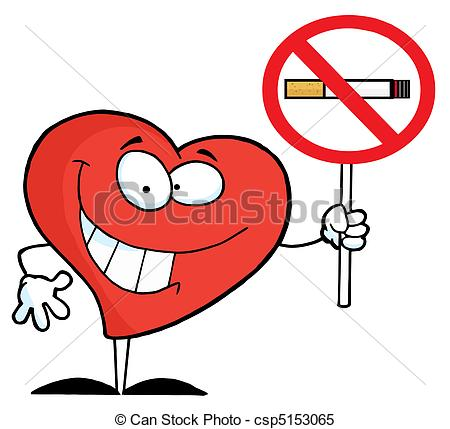 450x429 Heart Holding Up A No Smoking Sign Red Heart Holding A No
