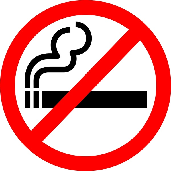 600x600 Sign No Smoking Free Vector In Open Office Drawing Svg ( Svg