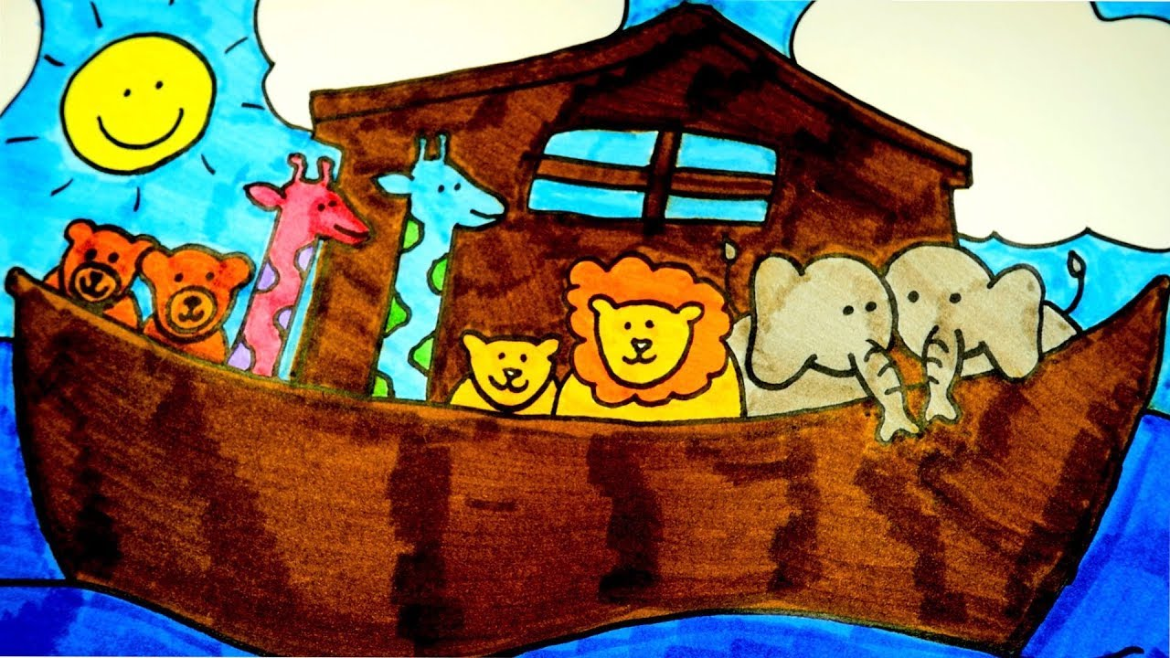 1280x720 How To Draw Noah's Ark, Christian Drawings For Kids (Easy)