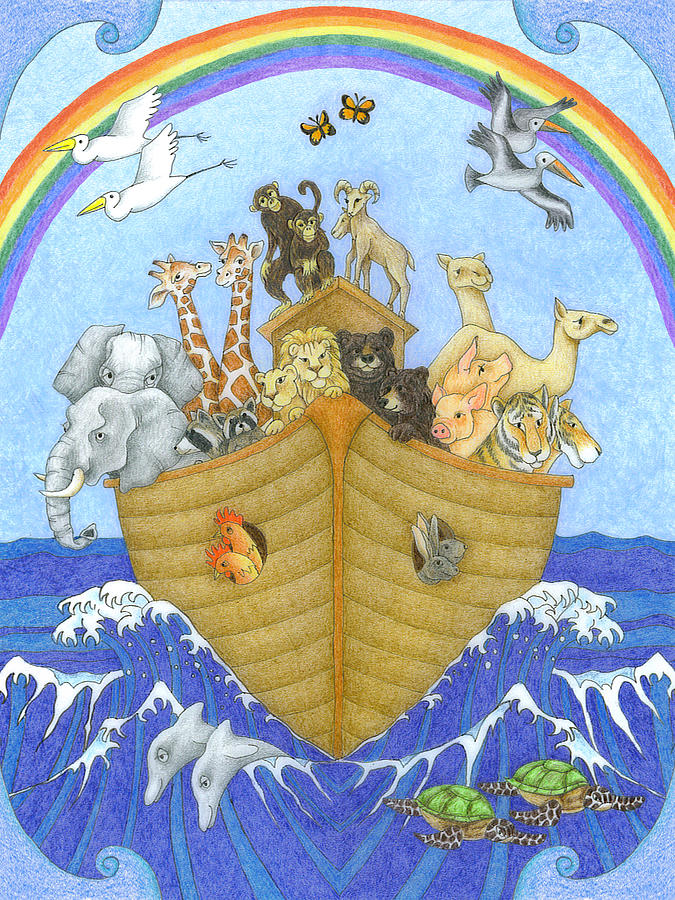 675x900 Noah's Ark Drawing By Alison Stein