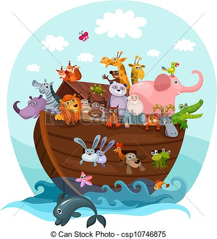 428x470 Vector Illustration Of A Noah's Ark Vectors Illustration