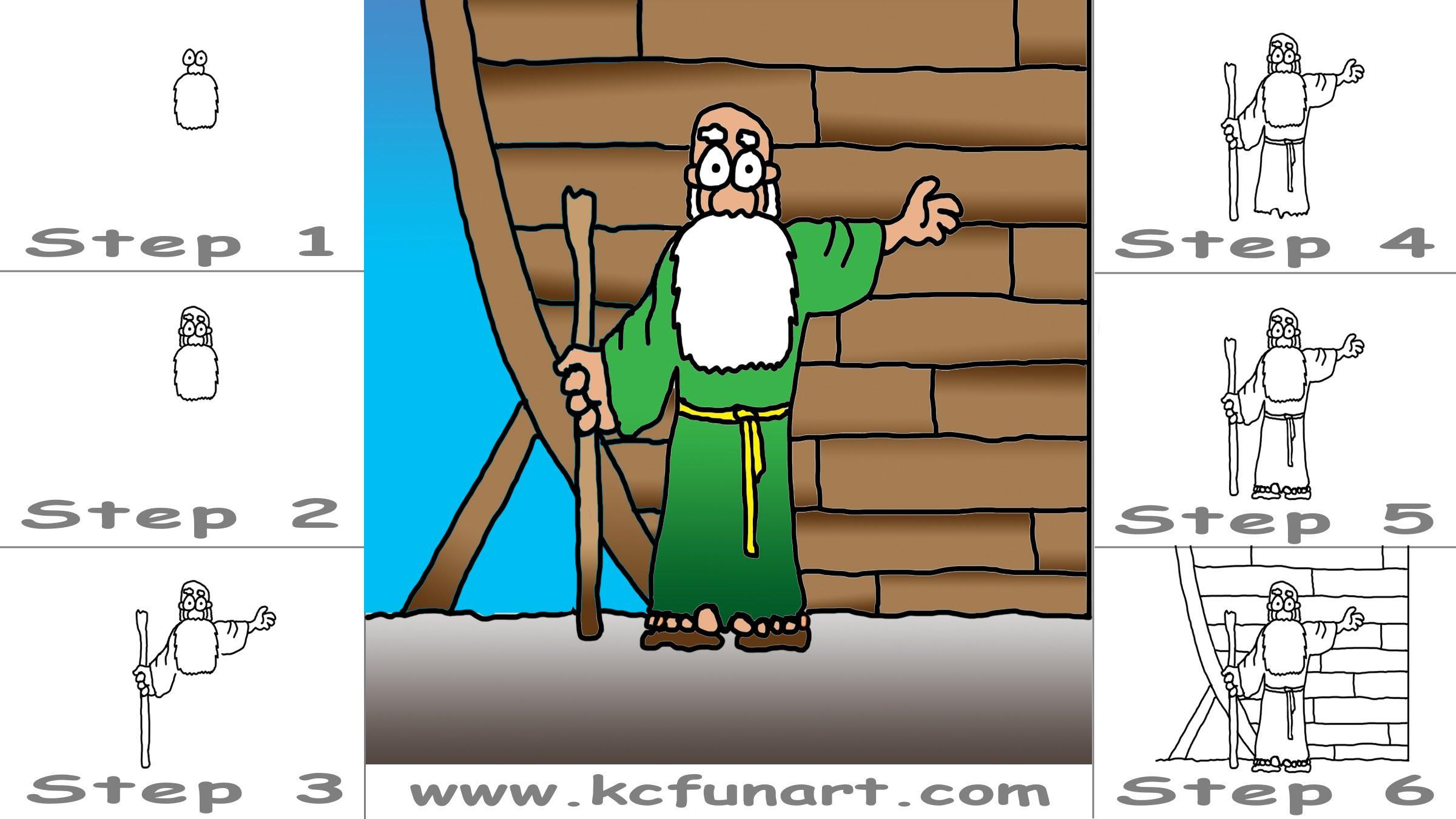 2400x1350 82 How To Draw A Cartoon Noah