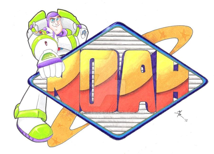 900x648 Noah's Name Drawing By Oafie79