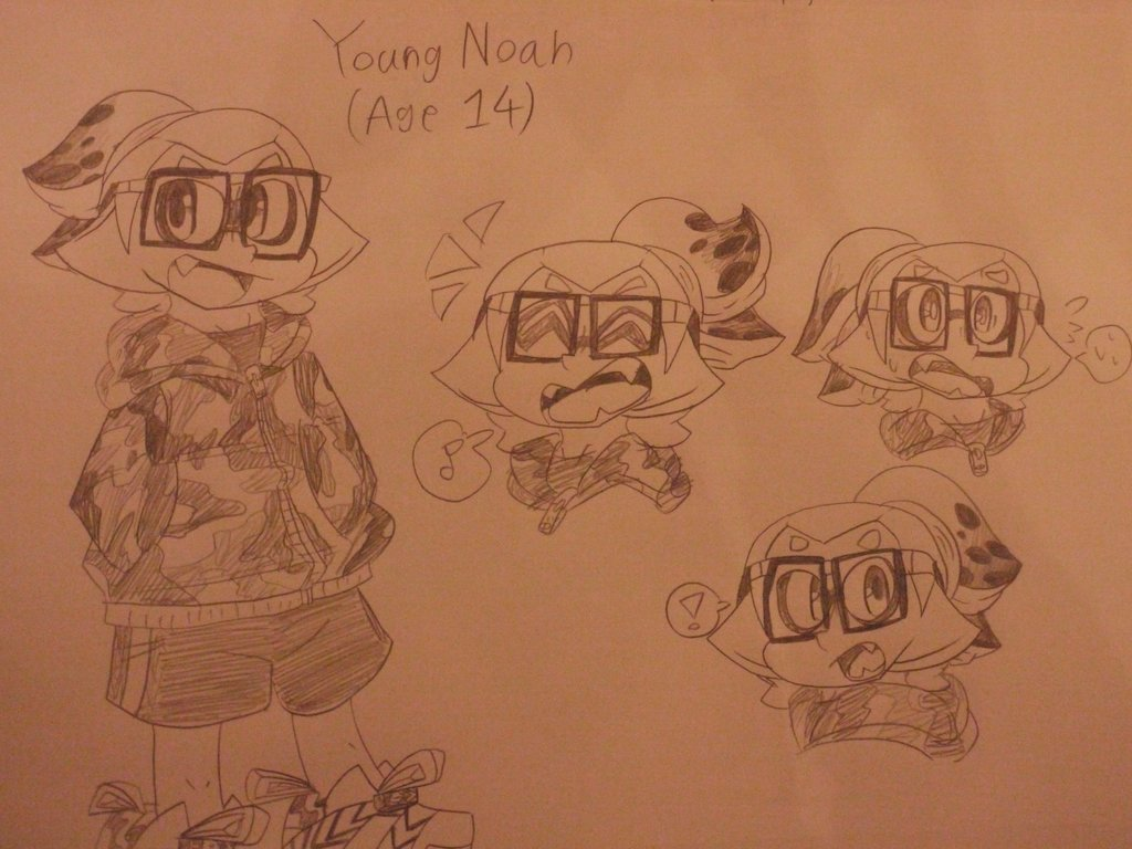 1024x768 Young Noah Drawing By Hassy521