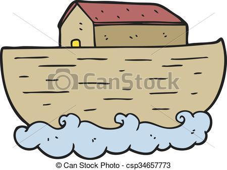 450x337 Freehand Drawn Cartoon Noah's Ark Vectors Illustration