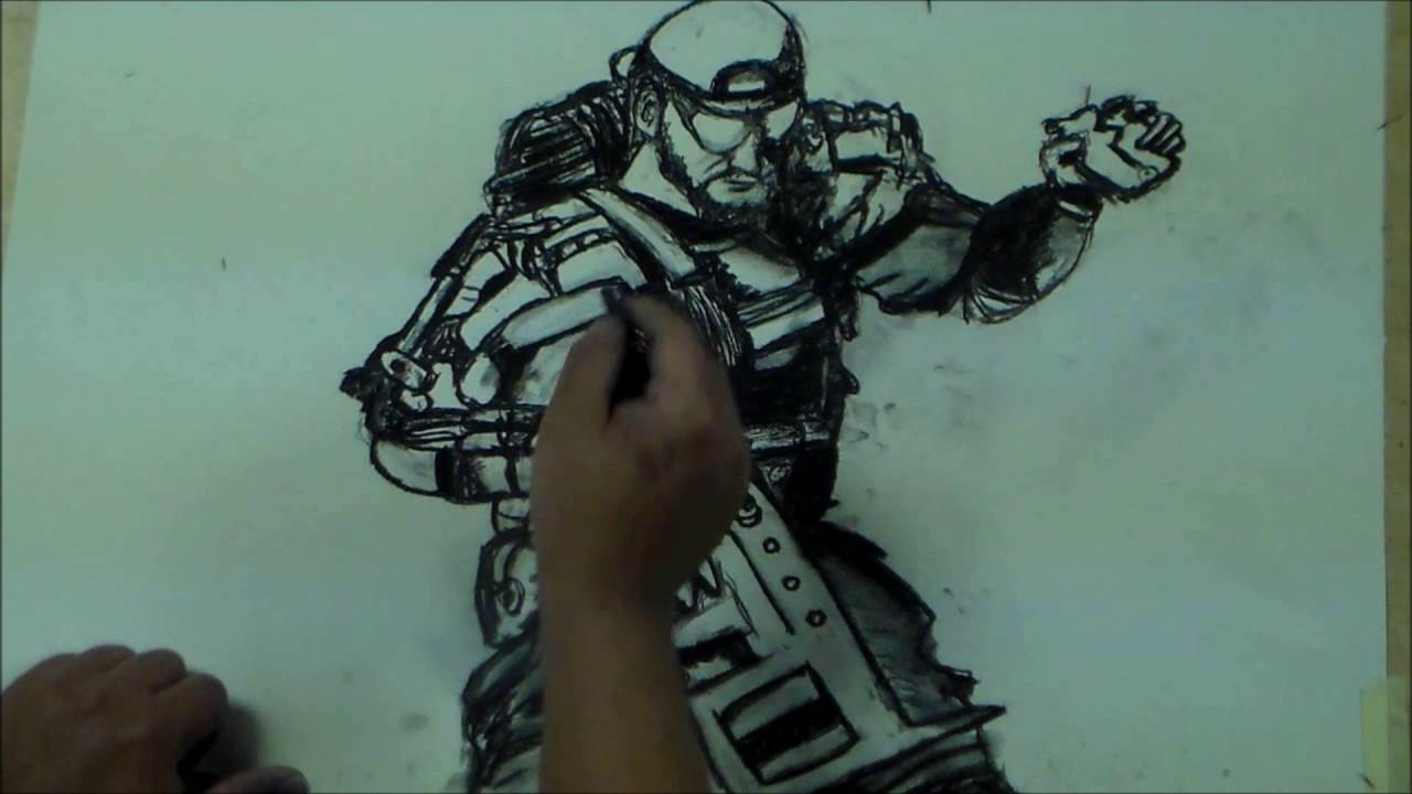 1280x720 Nomad Specialist (Call Of Duty) Black Ops 3 Speed Drawing By