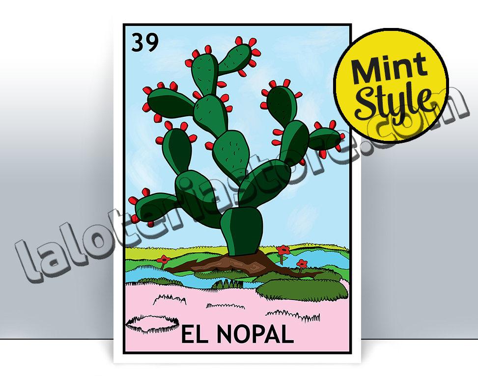 973x766 El Nopal Loteria Card The Prickly Pears Mexican Bingo Art