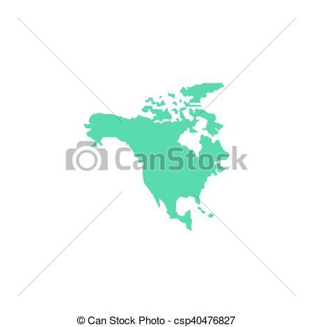 450x470 North America Icon Vector. Flat Simple Color Pictogram Vector