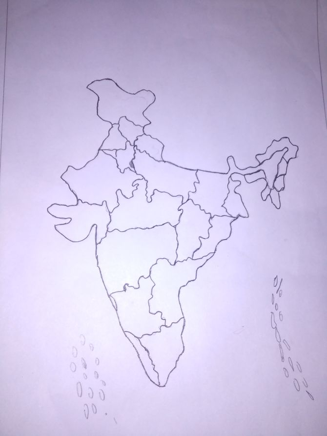 670x893 North America Map Sketch North America