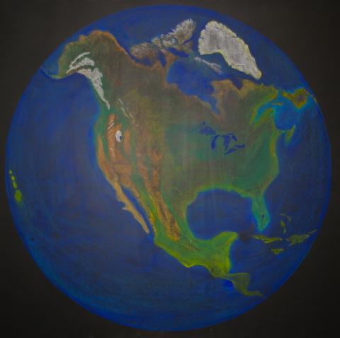 480x478 Waldorf ~ 5th Grade ~ North America ~ Map ~ Chalkboard Drawing