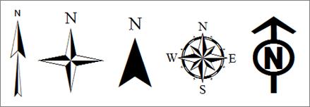 439x152 Map Legend Symbols Image Of A Various North Arrow Options