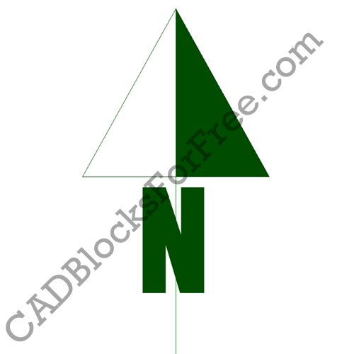 500x500 North Arrows Cad Blocks For Free