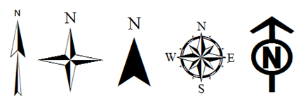 439x152 Map Symbol For North